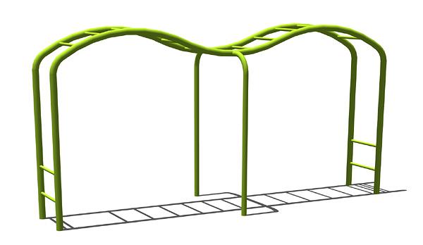製品案内 遊具 雲梯 安全な遊器具・休養施設・景観施設の上屋敷工業株式会社 福井で緑の中の楽園づくり